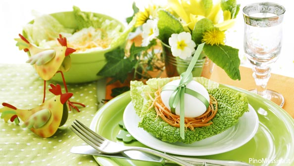 Come decorare la tavola per pasqua foto blog di lifestyle - Decorare la tavola ...